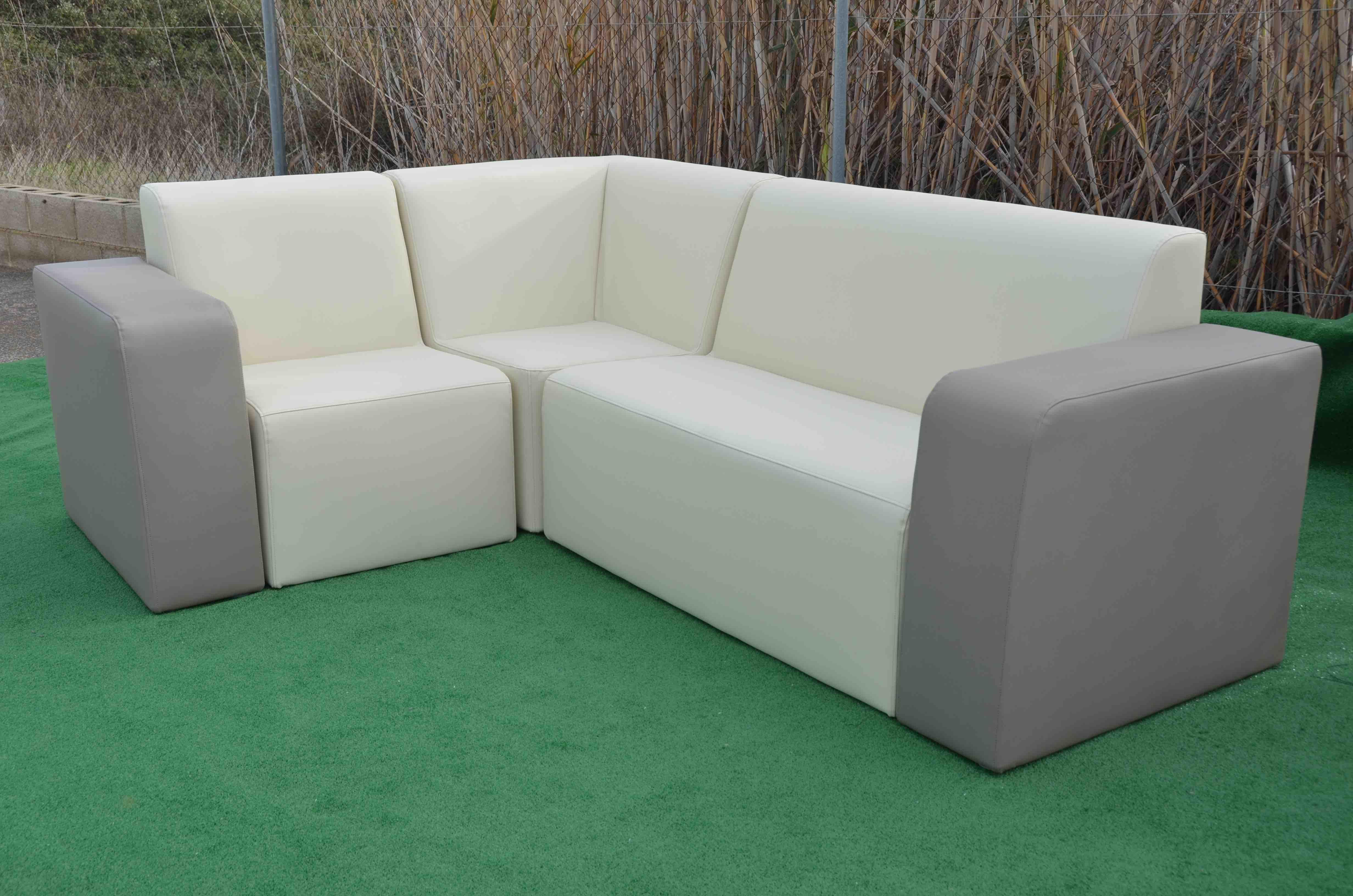 Conjunto Brisa tapizado. Mobiliario exterior para terraza, jardin y hostelería