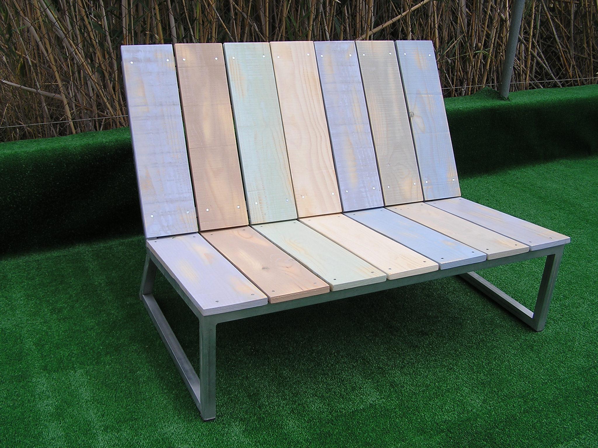 Sofá exterior Serie Básica 2 plazas. Mobiliario para terraza o jardín